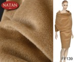 Alpaka Virgin Wool Ecru Camel Kamel KUPON 140X140