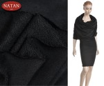 Dresowa dzianina Jersey Black Czarna Cotton
