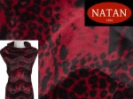 Futro Bordeaux Leopardo