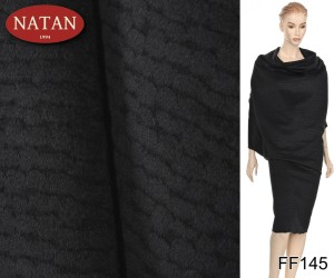 Alpaka Virgin Wool Made in Italy czarny wzór