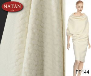Alpaka Virgin Wool Made in Italy biała wzór
