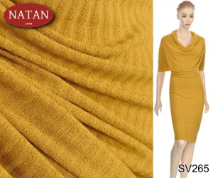 Dzianina Natural Jersey Musztarda Cotton Wiskoza