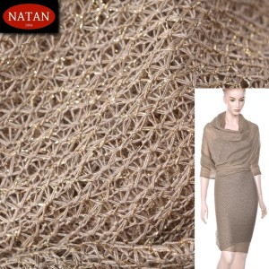 Dzianina Lurex Unregural GOLD - BEIGE