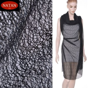 Dzianina Lurex Unregural Black Silver