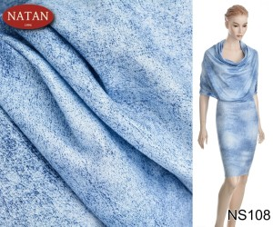 Dzianina Cotton Dżersej Jersey  Blu