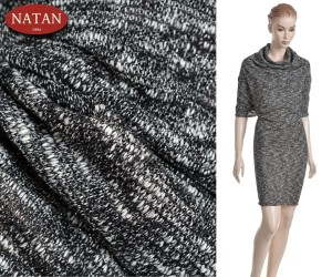 Dzianina Exclusive SOFT SILVER Melanż Lurex