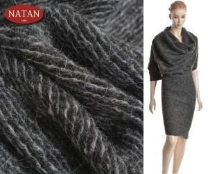 Dzianina swetrow MOHER BLACK-GRAY