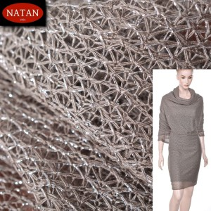 Dzianina Lurex Unregural SILVER-GRAY