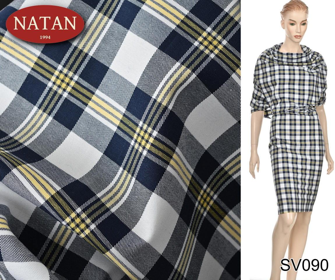 5a721863ac22e2 Tkanina elastyczna bawełna Kratka Blu koszulowa WWW.SUPERTKANINY.PL ...