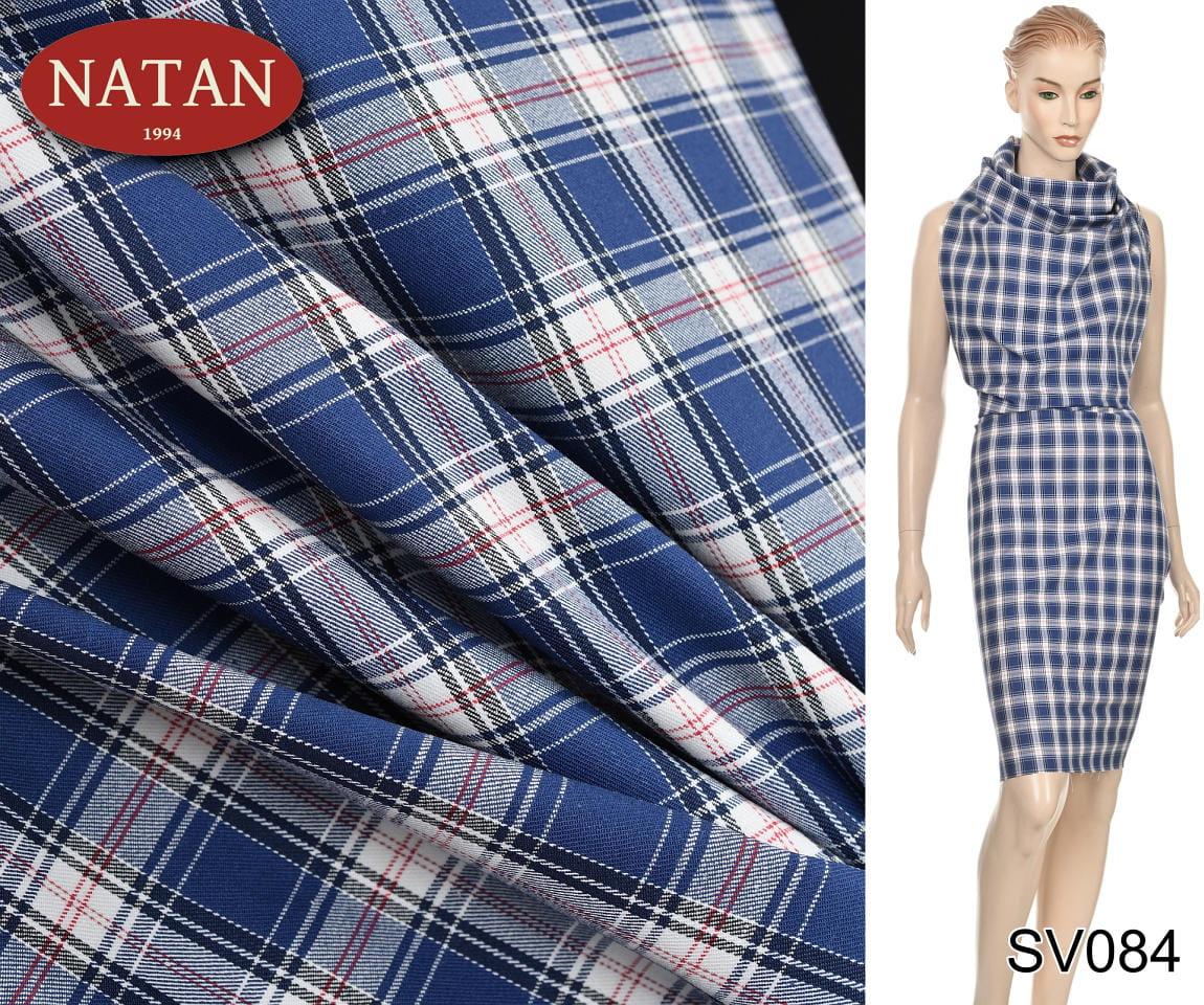 df4d2b937a7547 Tkanina elastyczna bawełna Kratka koszulowa - kod produktu: SV084. SV084  (1).jpg