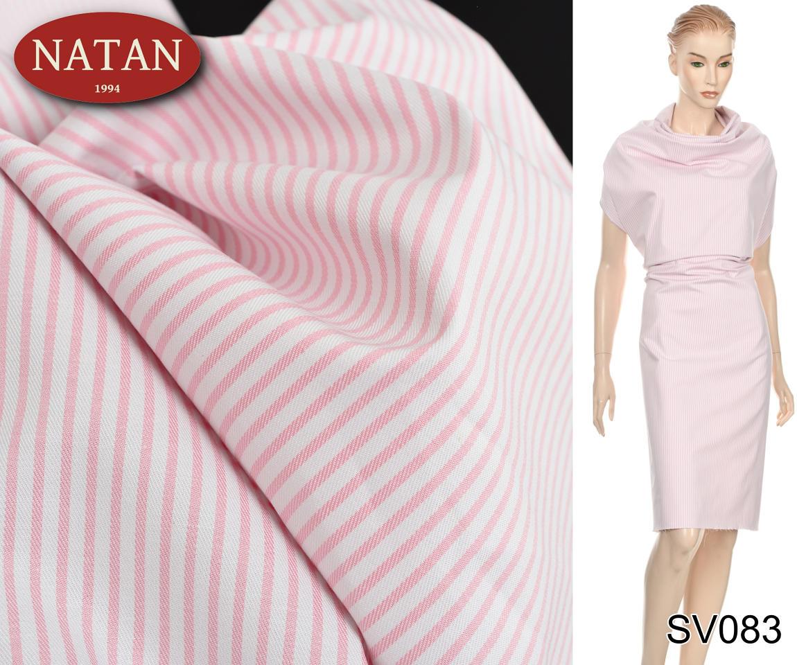 aa0ff52c909f1d Tkanina elastyczna bawełna Paski Róż koszulowa WWW.SUPERTKANINY.PL NATAN